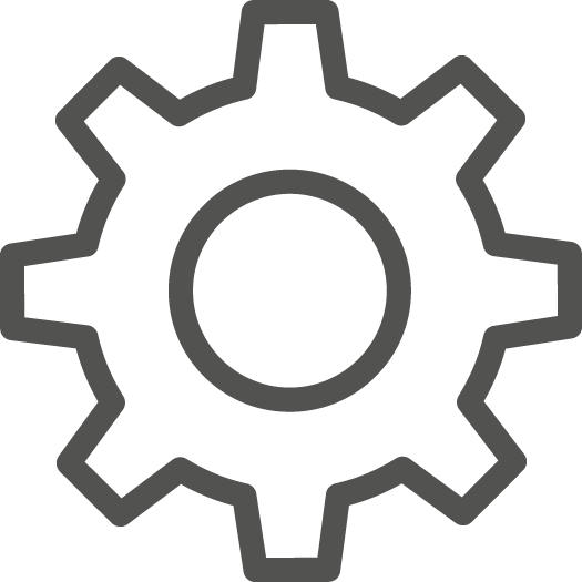IT network design gear icon