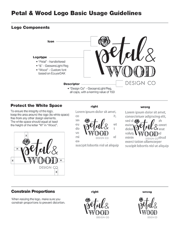 image of a brand identity guideline