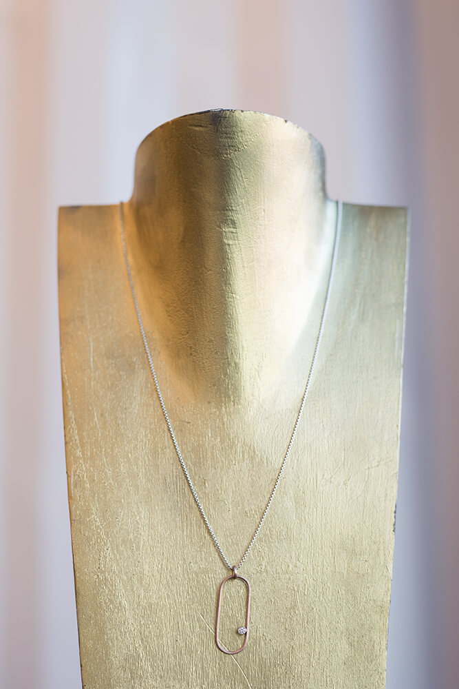 Beyond wedding bands, Spexton produces bracelets, necklaces, and many other types of finely crafted, beautifully textured metallic jewelry. (Photo: Valerie Grant)