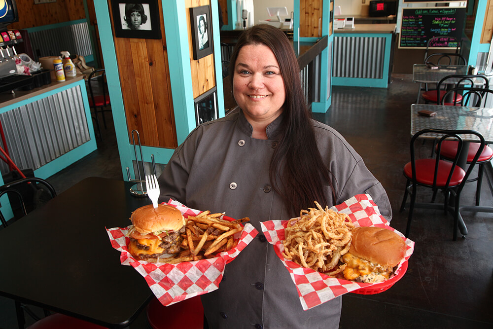 Executive chef and owner Brandy Adkins' love of home-cooking mixed with her chef's training has resulted in one of the best burger joints in Green Country. (Photo: Marc Rains)