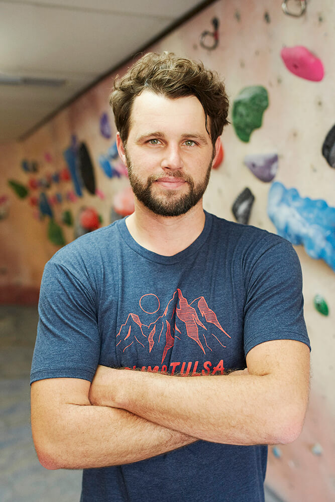 Climb Tulsa owner, Jason Burks, is looking to provide Green Country residents and visitors with a cutting-edge experience at his gym, as well as exposure to a sport that can easily be taken outdoors into the beauty of nature. (Photo: Sarah Eliza Roberts)