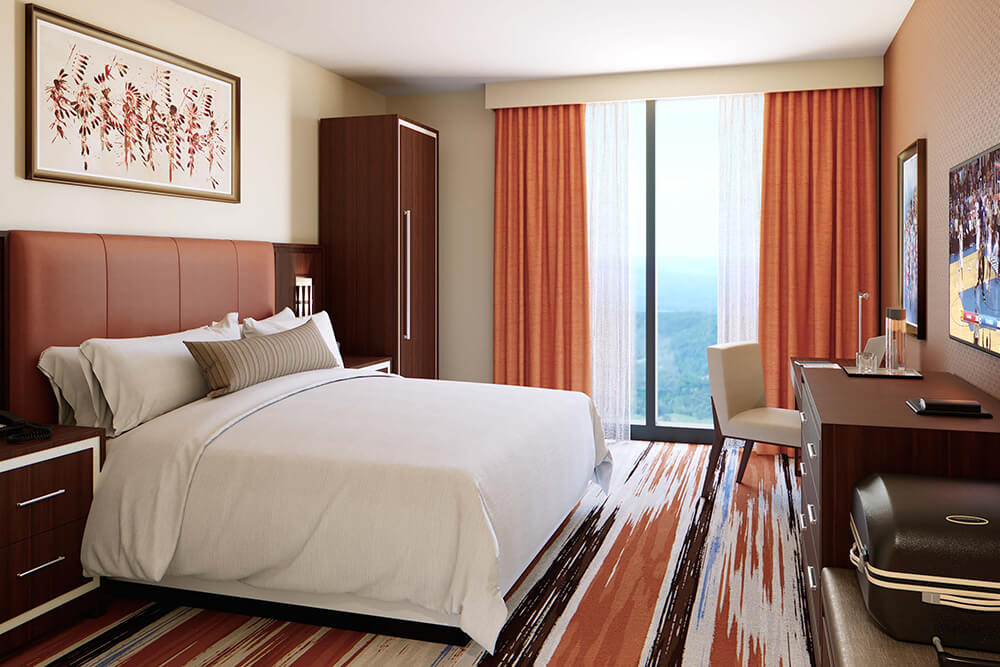 There are over 140 rooms plus six hospitality suites in the Osage Casino and Hotel.