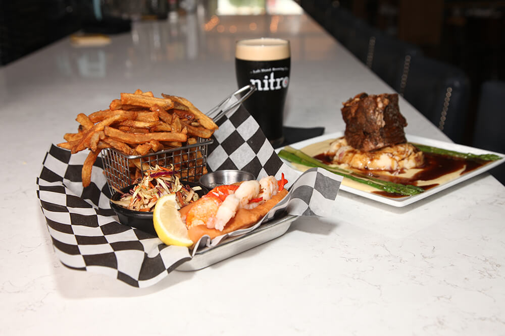 Lobster Roll and 48-Hour Short Rib (Photo: Marc Rains)