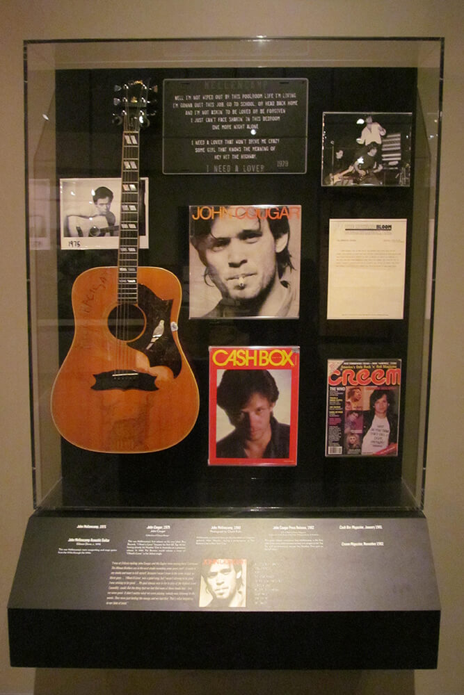 Included in the collection are handwritten lyrics, the Gibson Dove acoustic guitar used throughout his career, and more.