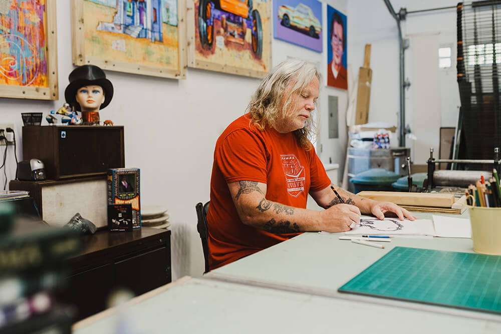 Hammer's future plans include expanding his artwork regionally and doing more print making. (Photo: Sarah Eliza Roberts)