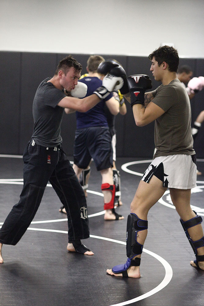 Thomas Longacre notes that the kinds of people attracted to MMA fighting, and the ones who succeed, are hard-working individuals looking for a challenge, ready to fully commit. (Photo: Marc Rains)