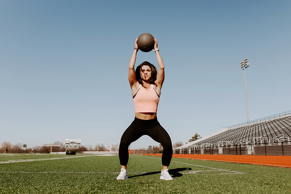 So many people, specifically females, are afraid to lift weights because they think that they're going to turn into this bulky, mass machine that looks like a man, and that's absolutely not the case. You can build lean muscle and meet the goals. (Photo: Sarah Eliza Roberts)