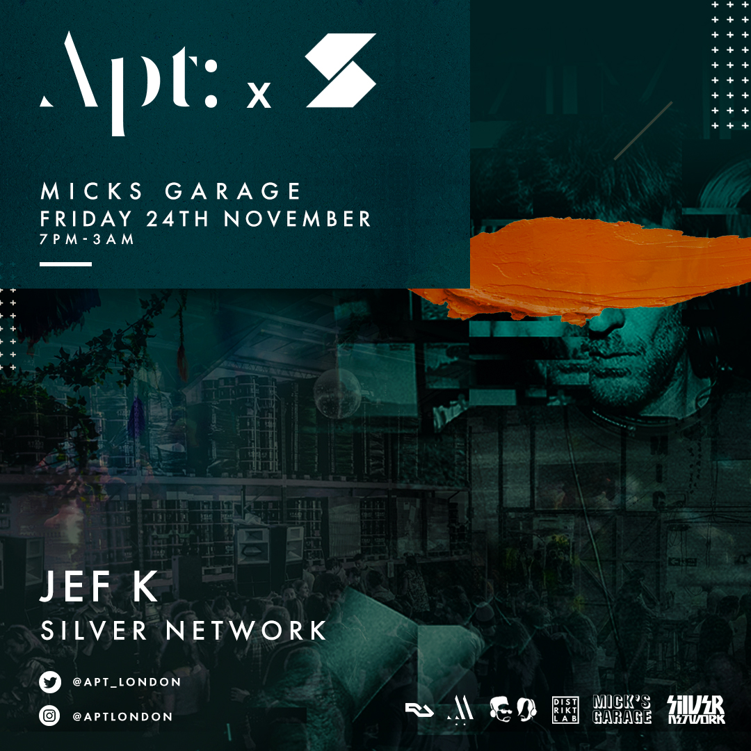 Apt: 010 announce special guest artist as French house legend: Jef K