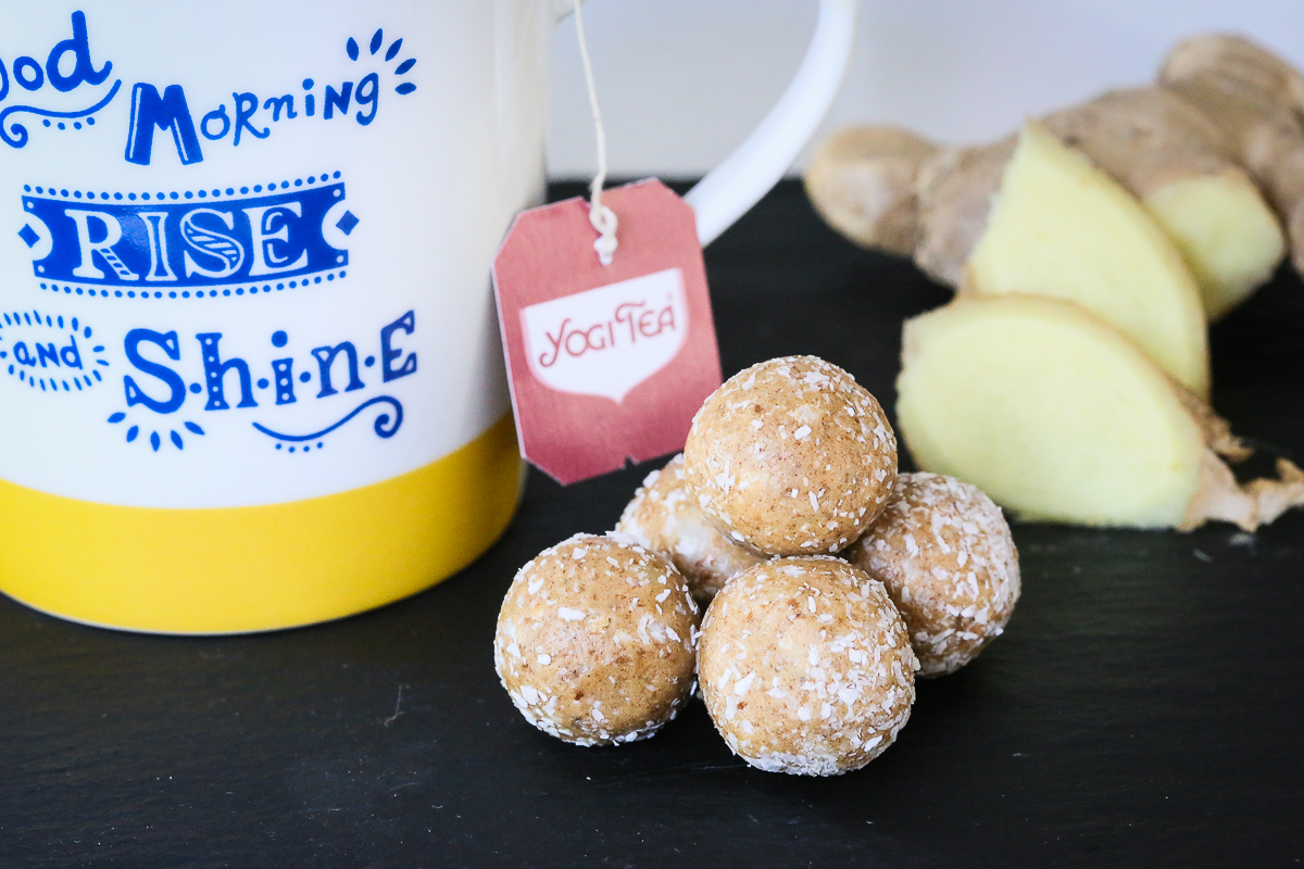 Ginger + Lemon Detox Protein Ball Recipe