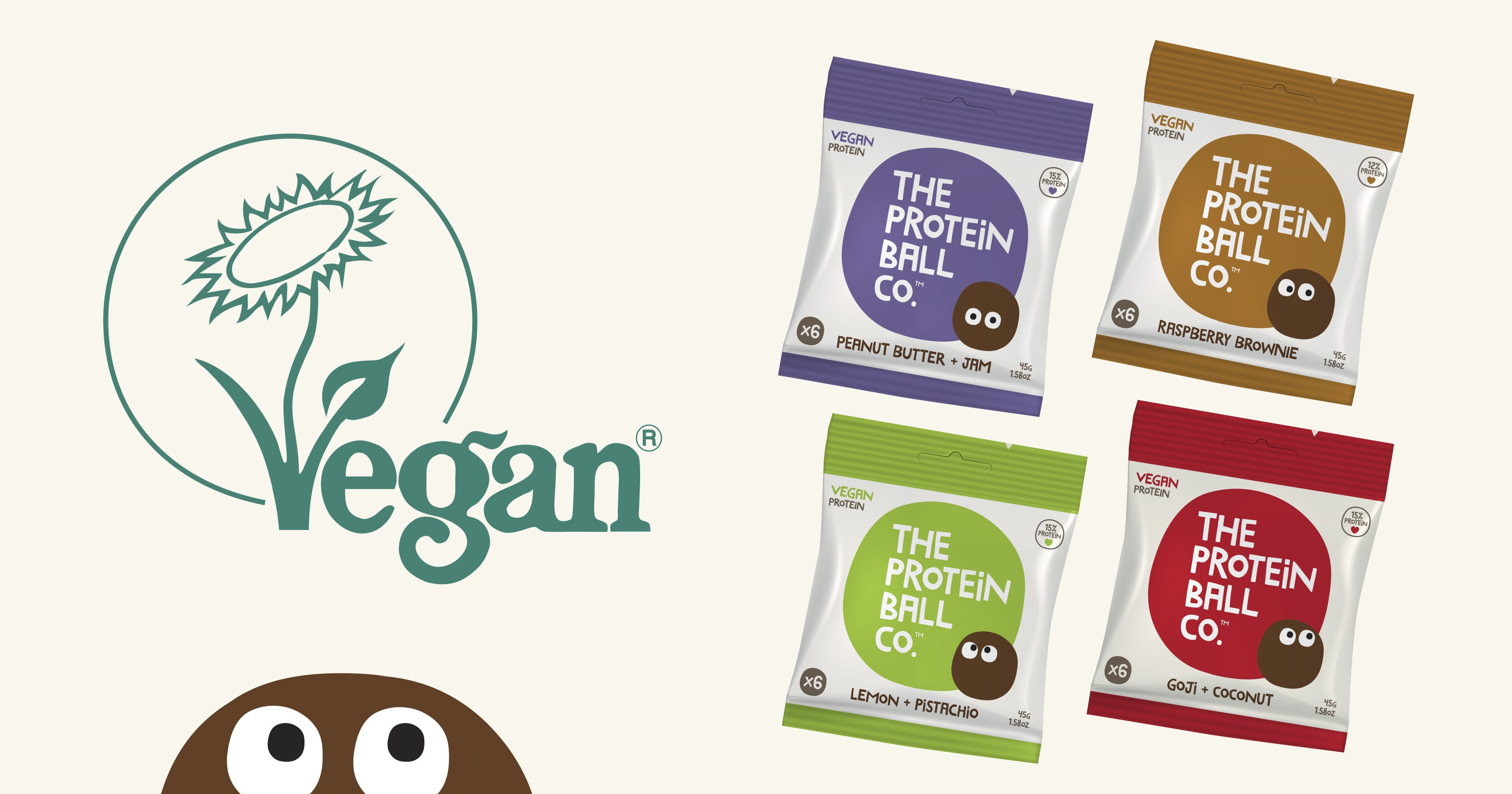 Vegan Society Trademark + The Protein Ball Co