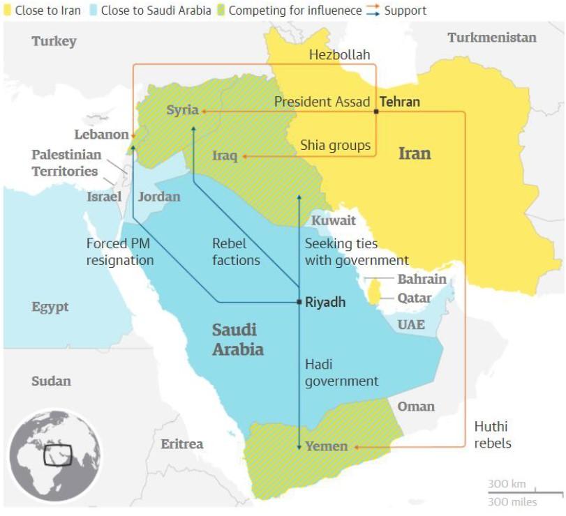 Exhibit 4:The squaring off of Saudi Arabia and Iran