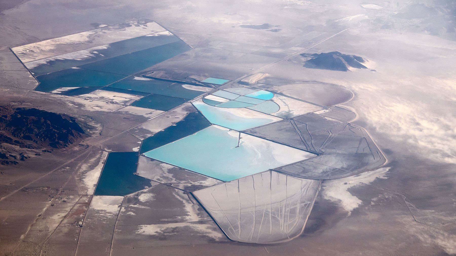 Exhibit 4: An aerial view of a lithium extraction operation in Nevada