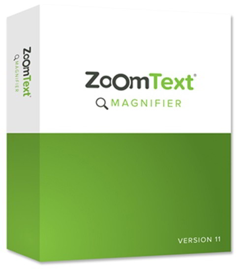 Software aid for text to speech, object sizing, and contrast customization.