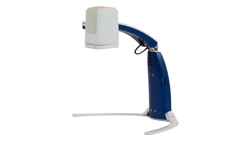 Portable and foldable arm with a mounted camera with optical character recognition, compatible with OpenBook software and GEM software (GEM included).