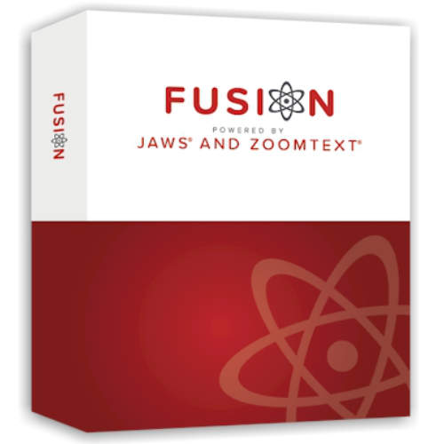 ZoomText Fusion is the combination of JAWS and ZoomText, providing Fusion with flexible, high-quality speech using Eloquence and Vocalizer Expressive, powerful keyboard access including navigation on the web, and a wide range of customization options.