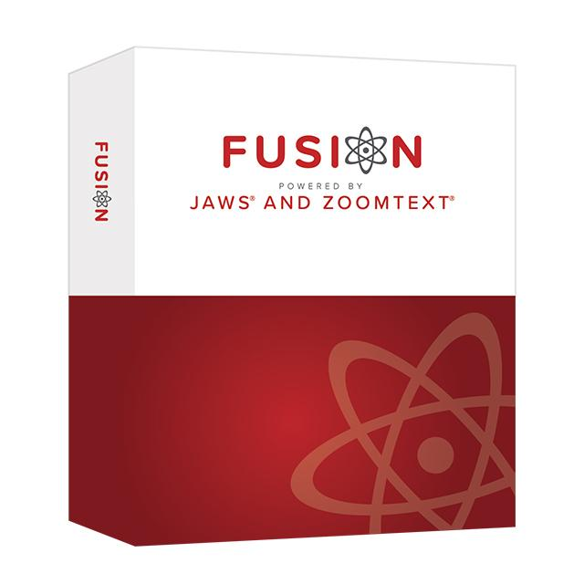 Fusion is the ultimate accessibility tool for individuals with any level of vision impairment. Fusion provides the best of both worlds – ZoomText, with its screen magnification and visual enhancements for screen viewing ease, coupled with the power and speed of JAWS for screen reading functionality.