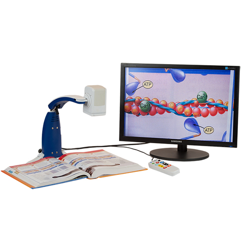 Foldable, portable, and easy to set up. Versatility allows magnification across a room or used as a close mirror. GEM software is included, although OpenBook is a separate and optional alternative, to capture, scan, and read documents.C=