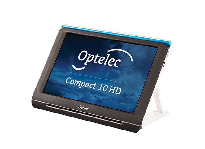 "With its large 10"" screen, customizable features and intuitive operation, the Compact 10 HD offers all benefits of a desktop video magnifier, but in a much smaller, foldable, and portable design."