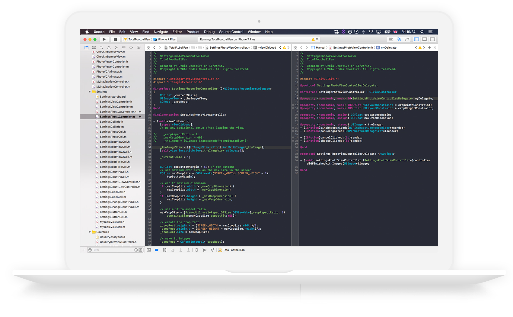 xcode ordia creative project