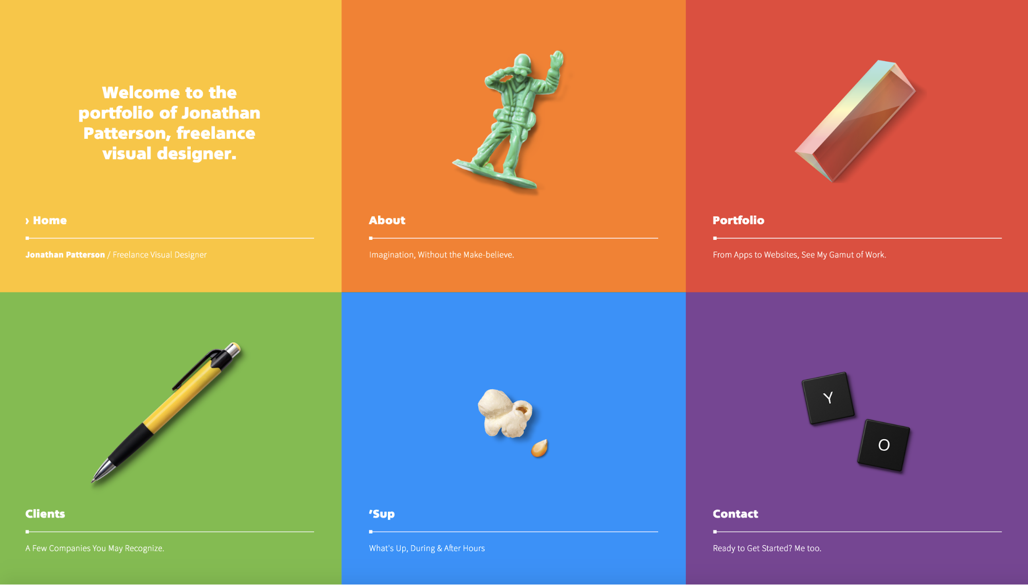 9 inspiring portfolios and insights from the designers behind them color me impressed jonathan patterson a fandeluxe Choice Image