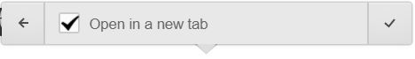 """Open in new tab"" selected in text link settings in Webflow Editor."