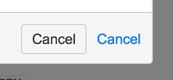 "A cacel button next to text that reads ""cancel."""