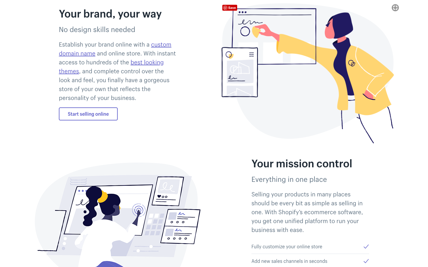 Shopify has made illustration a strong part of its brand