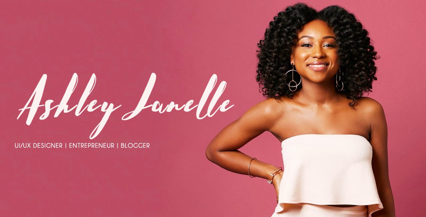 Ashley Janelle landing page.