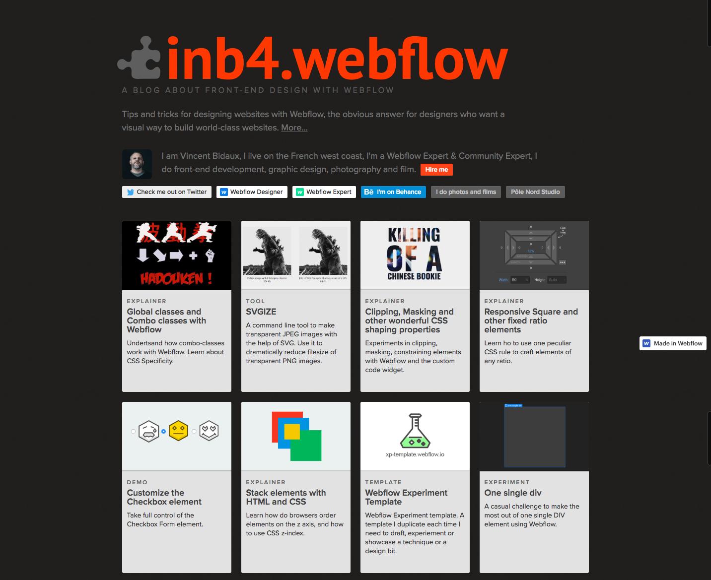 inb4 blog landing page.