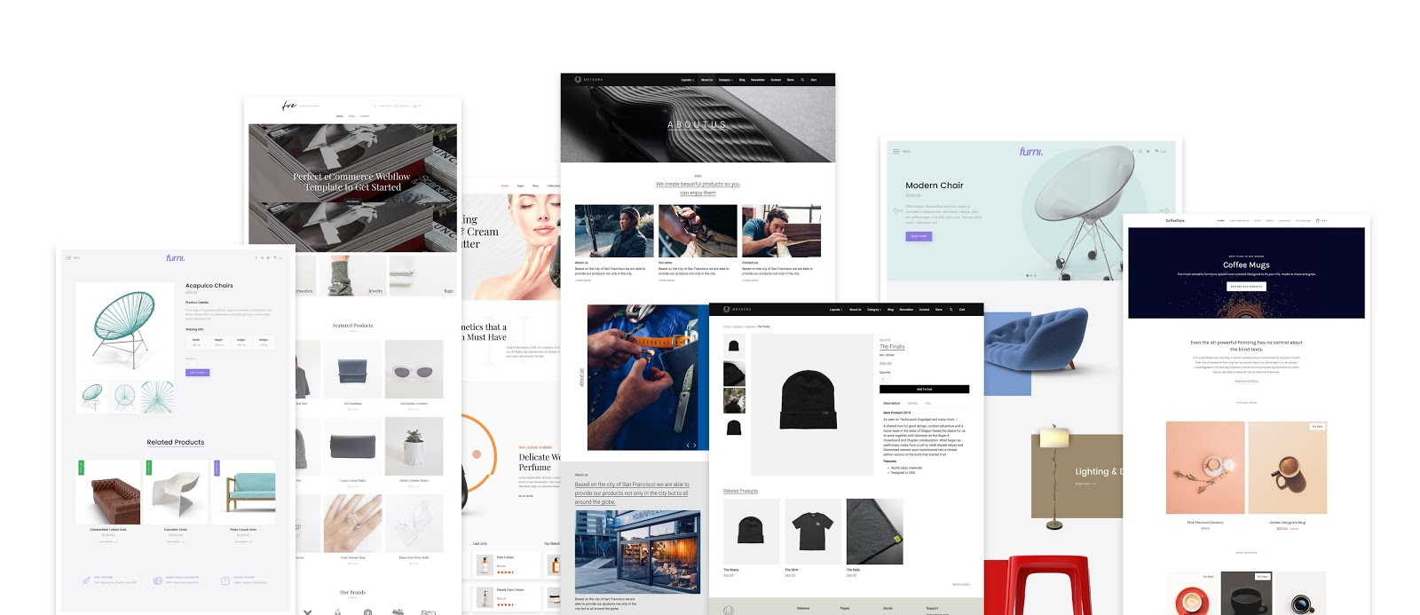 We've released a mix of free and paid ecommerce templates just in time for the beta.