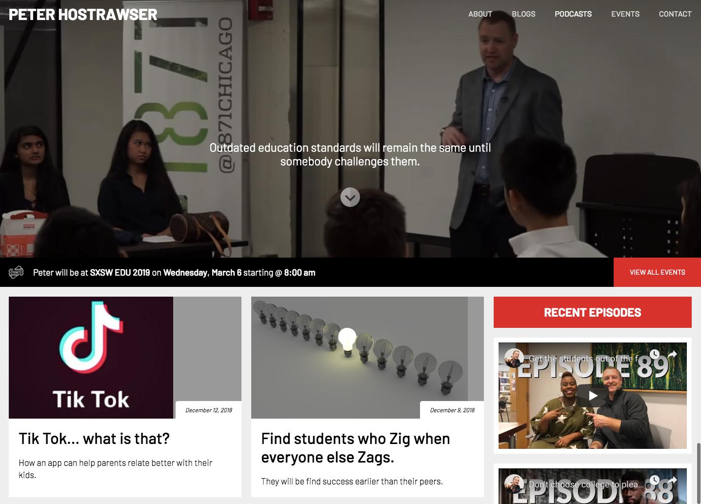 Peter Hostrawser homepage