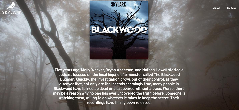 Blackwood Bugman Podcast homepage.