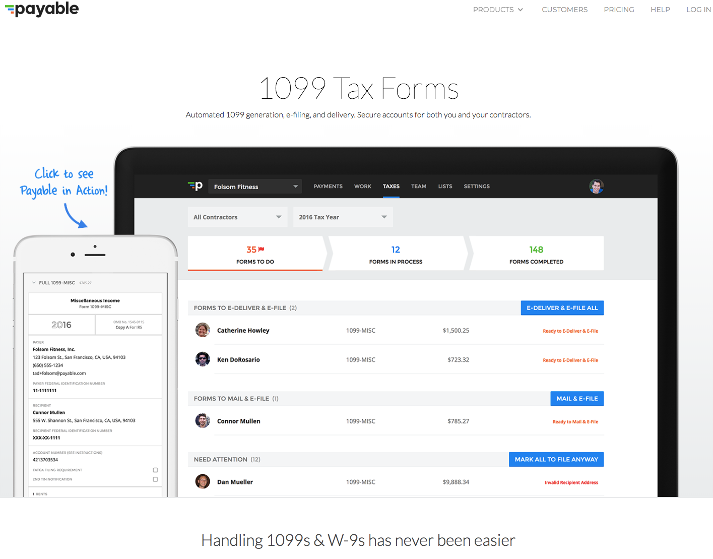 Payable homepage.