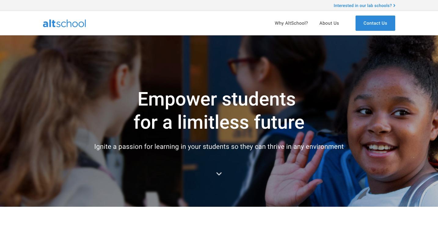 AltSchool homepage.