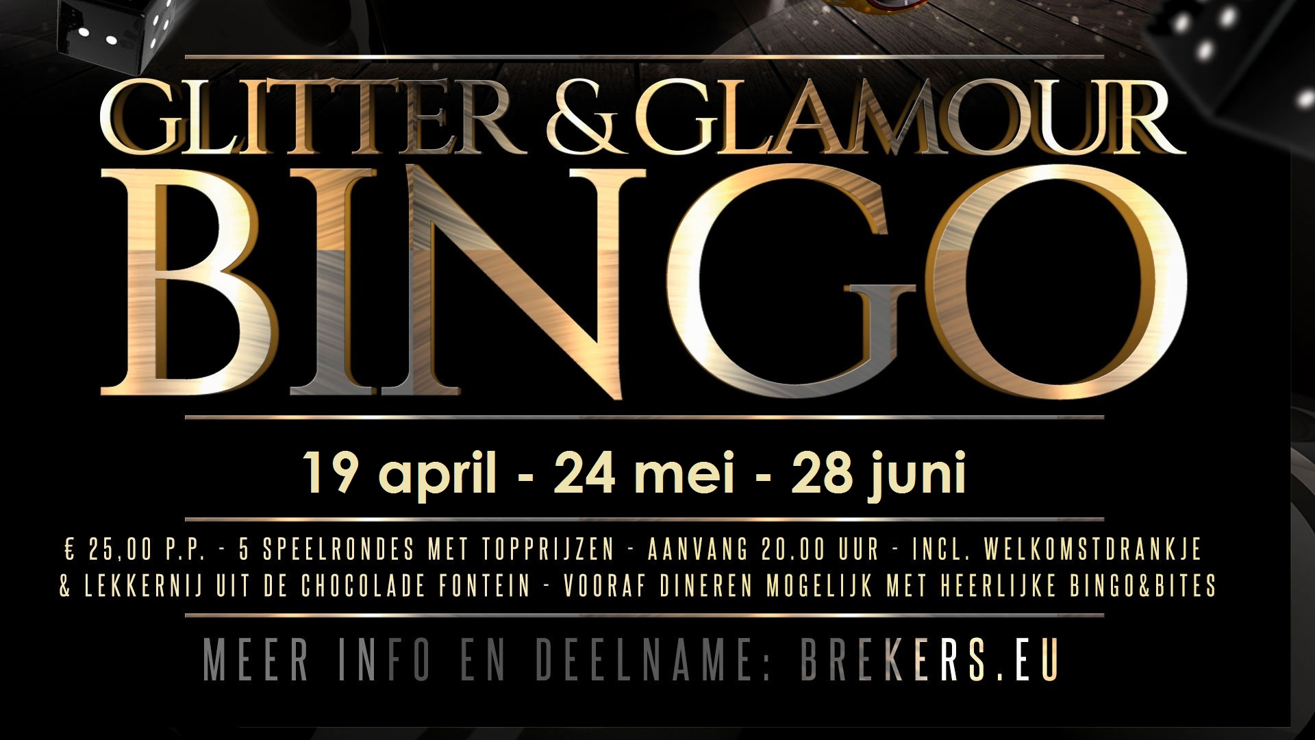 Glitter & Glamour Bingo 19 april