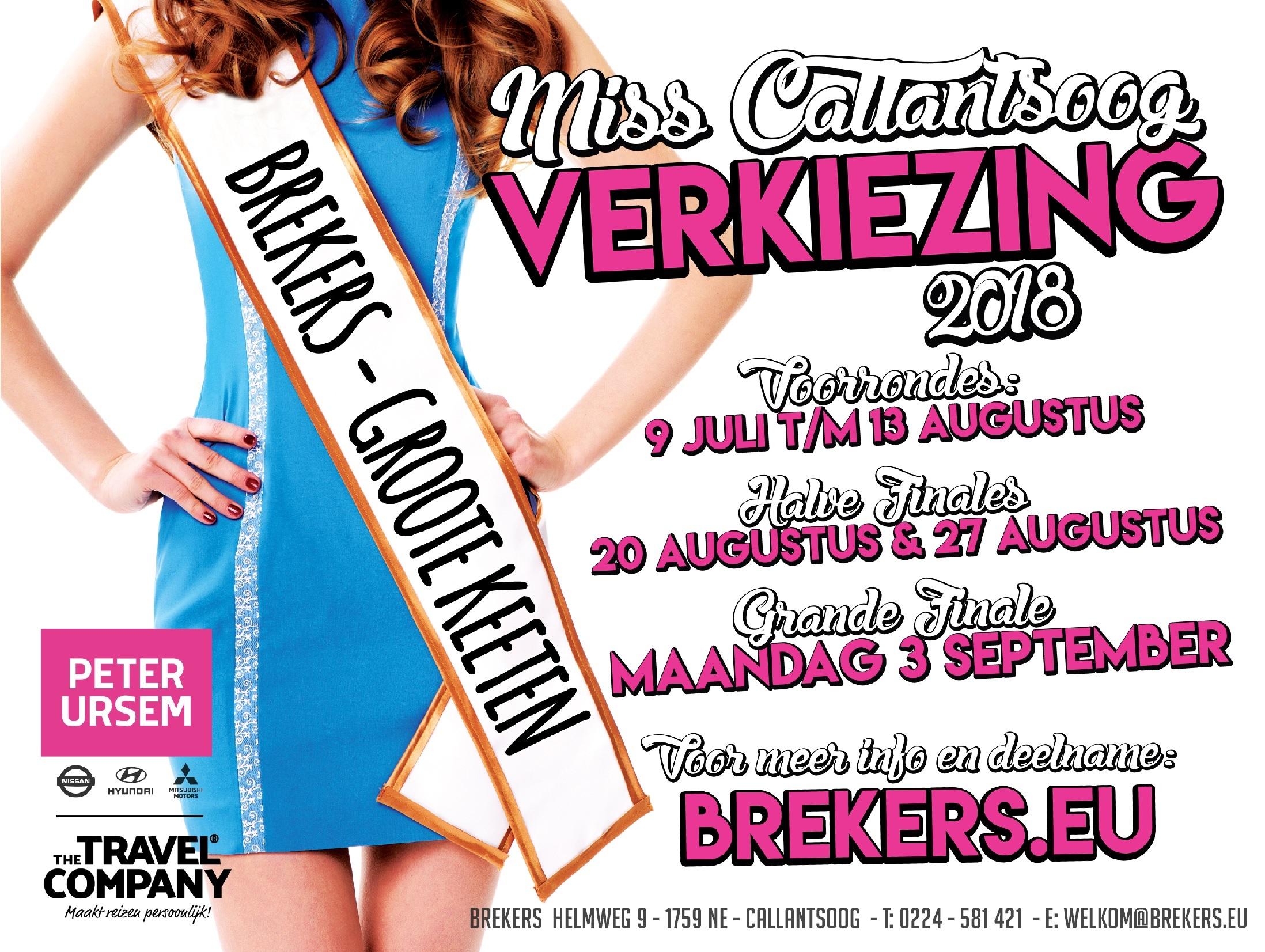 Geef je op voor Miss Callantsoog 2018!