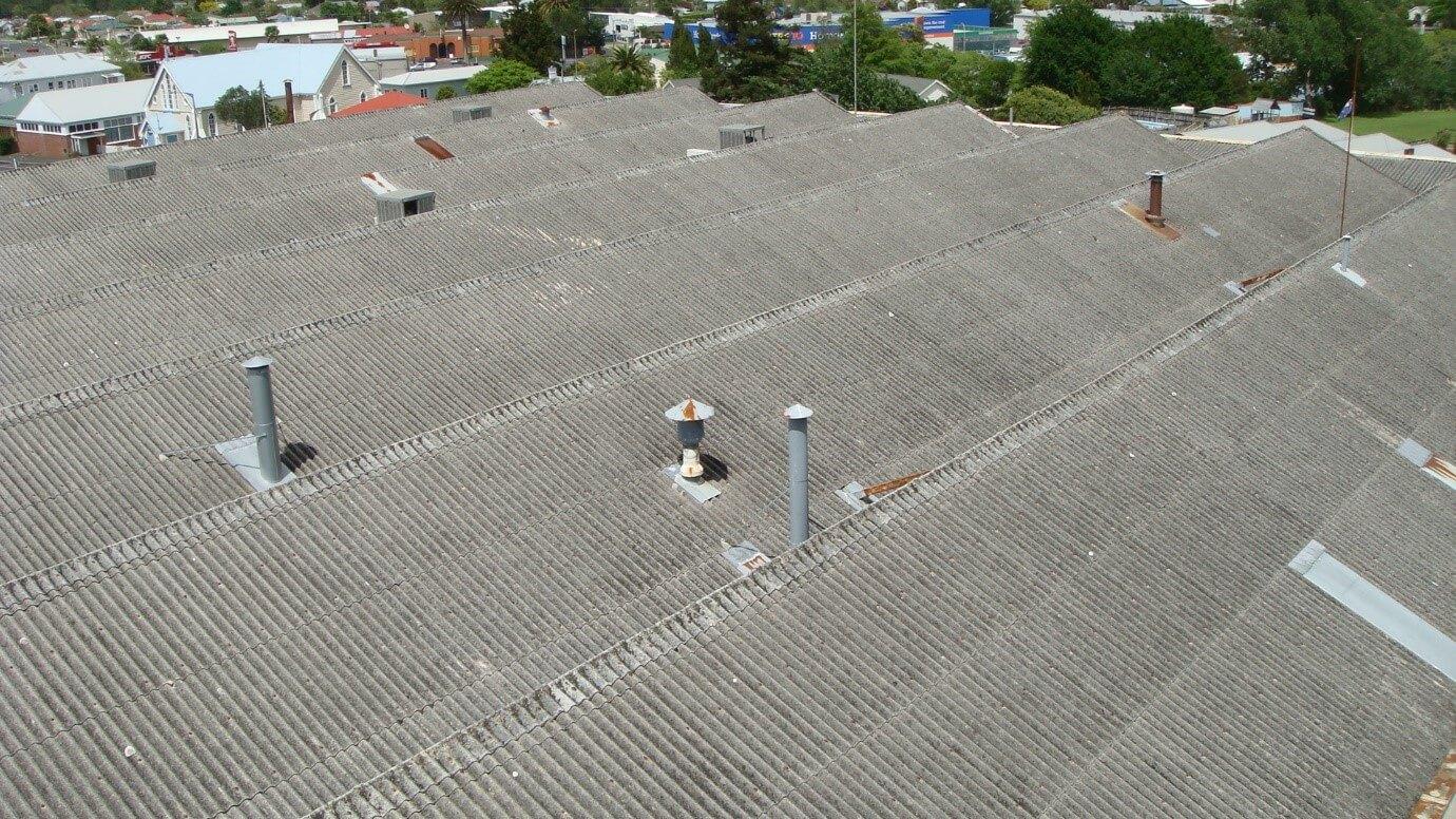 Before Abestos Roof Coating