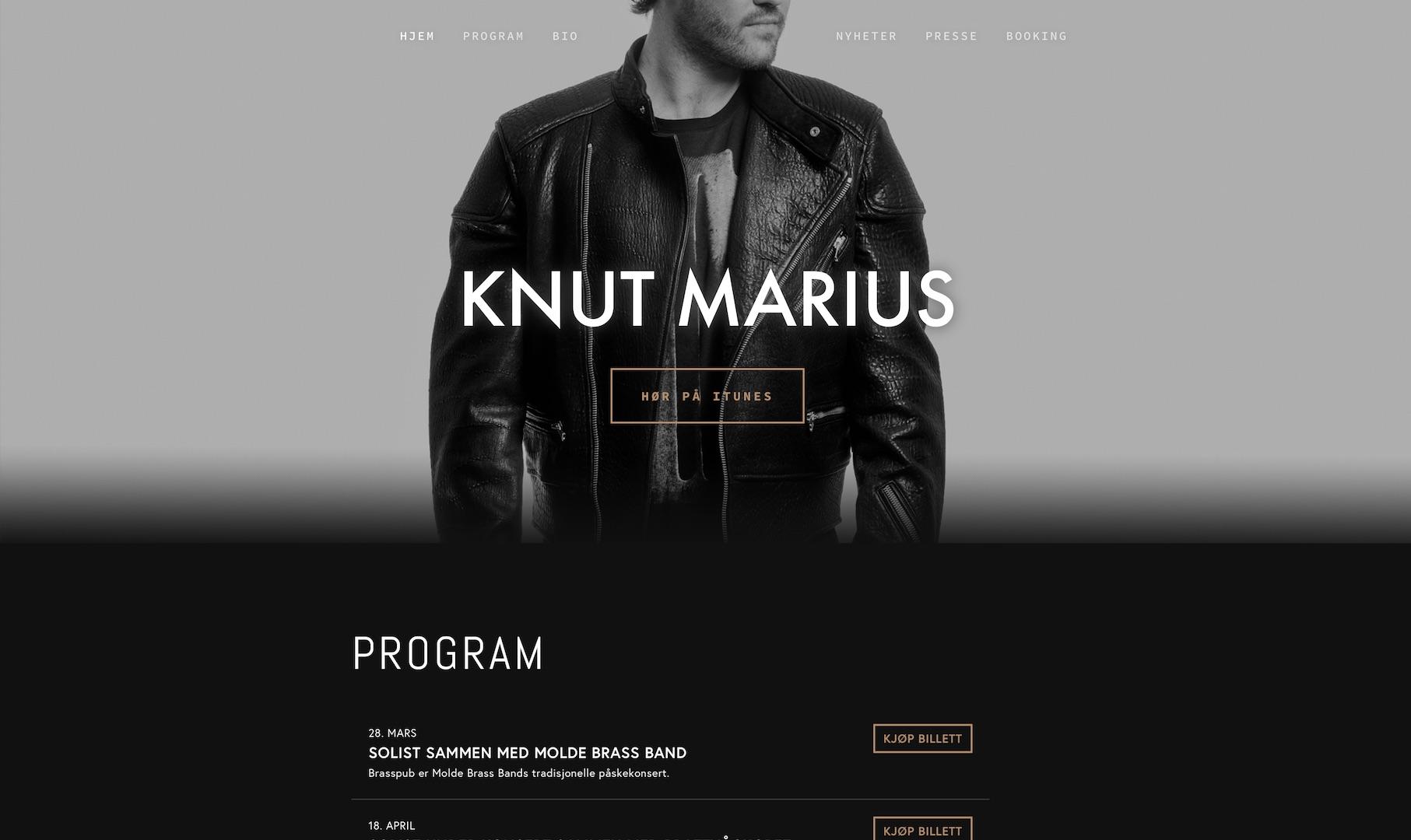 Knut Marius er en sanger fra Tomrefjord i Møre og Romsdal. Han er vokalist i gruppene Red Hot og Soultrain, og vant sangkonkurransen The Voice i 2013.