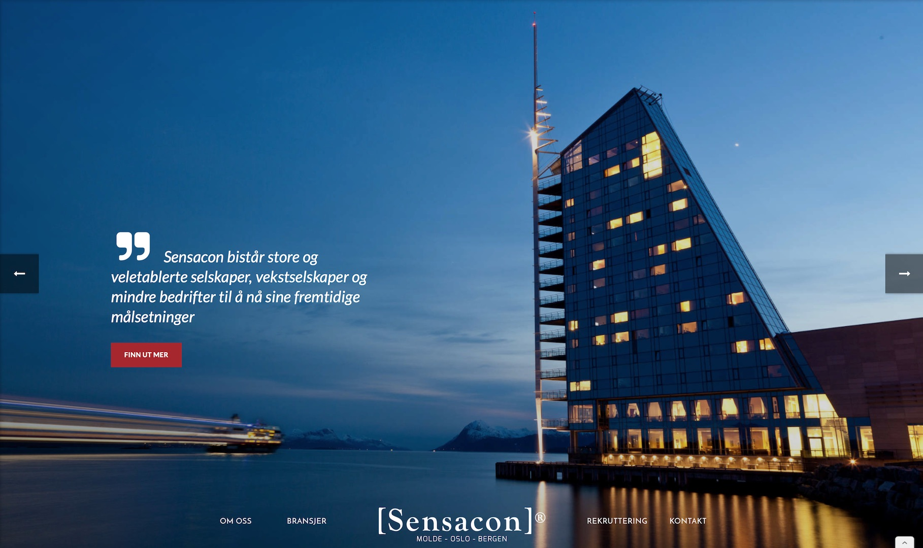 Sensacon er et konsulentbyrå med kontorer i Molde, Oslo og Bergen. De bistår bedrifter med å nå sine fremtidige målsetninger. Se deres nye nettside her!