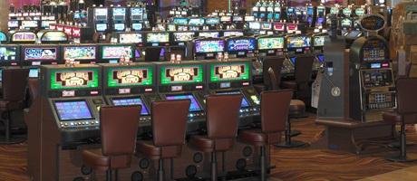Gaming action in the huge casino