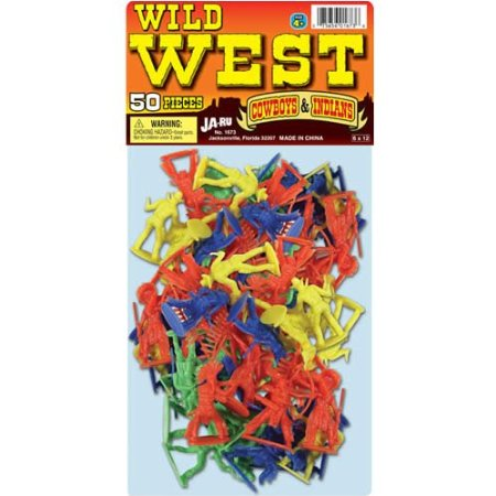 Wild West Cowboy And Indians - 50 Piece Set