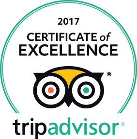 Trip Advisor 2017 Certificate of Excellence Award