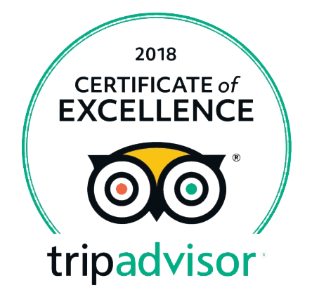 Trip Advisor 2018 Certificate of Excellence Award