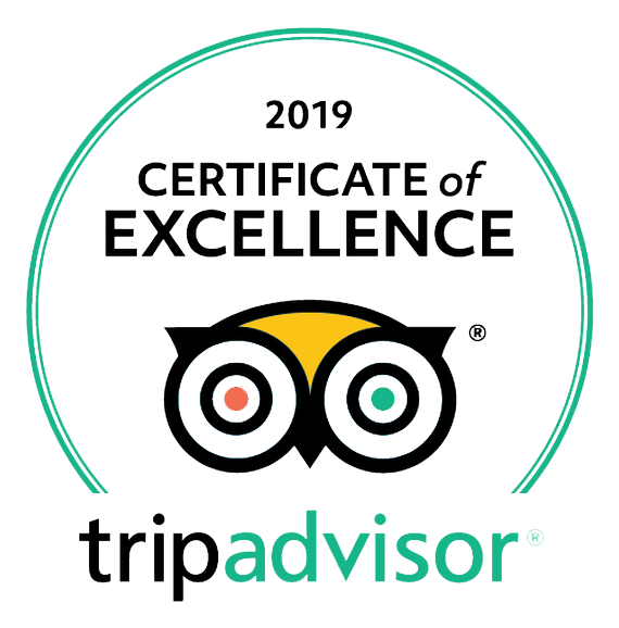 Trip Advisor 2019 Certificate of Excellence Award