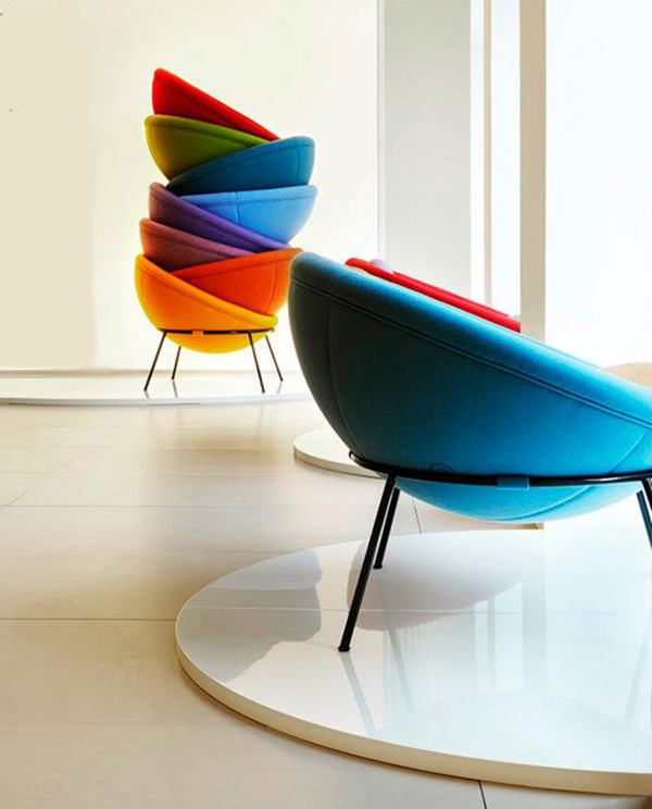 Arper's Bowl Chair, designed in 1951, has been brought to the modern office furniture market.