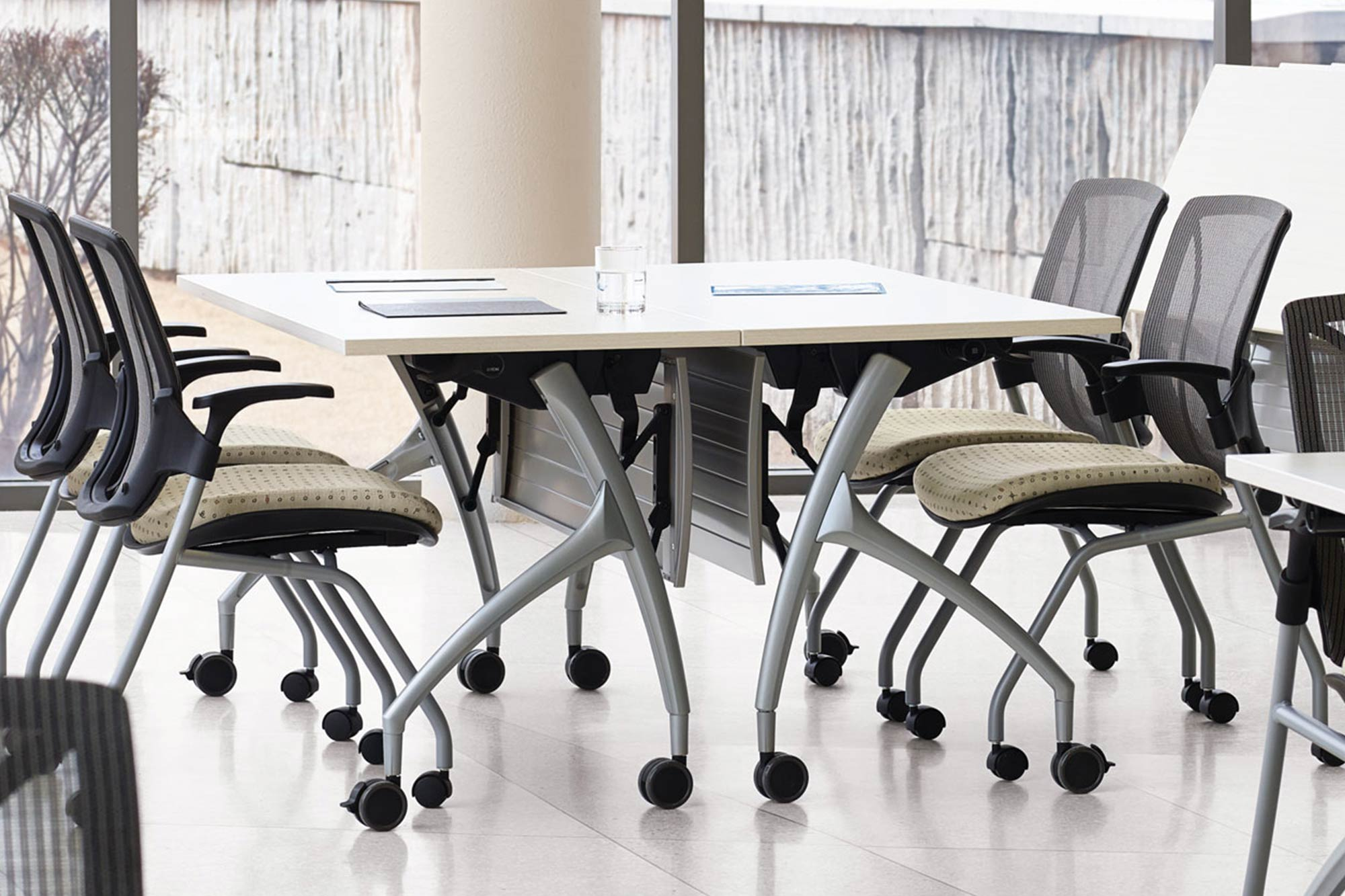 Dynamic training rooms require flexible furniture that can keep up with today's rigorous technological demands.