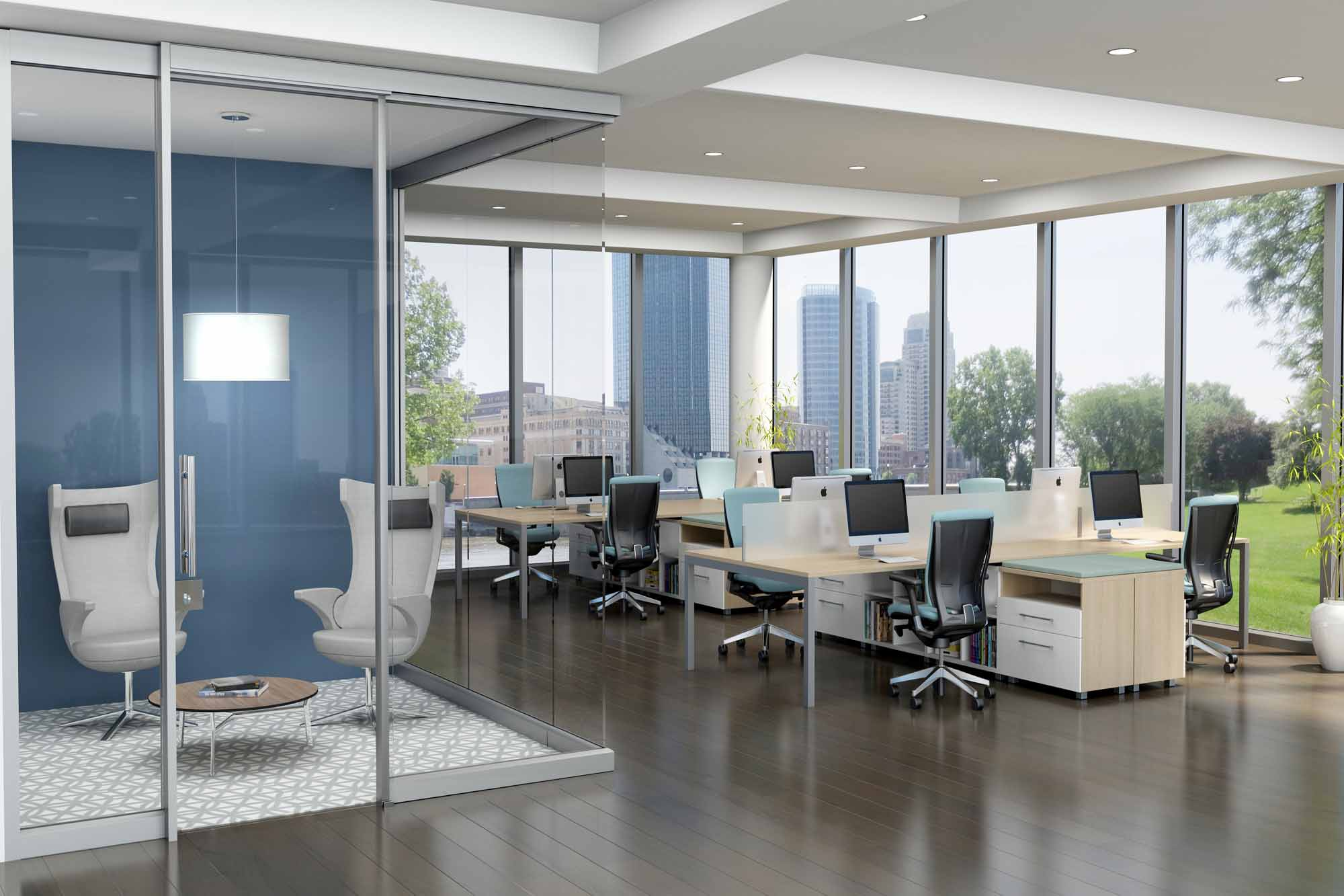 From workstationsto demountable walls, conferenceand training tables tolounge and task seating, Trendway isthe one-stop shop for all your office furniture needs.