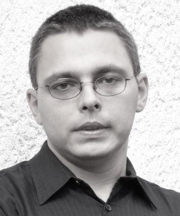 A photograph of Hungarian writer György Drágoman