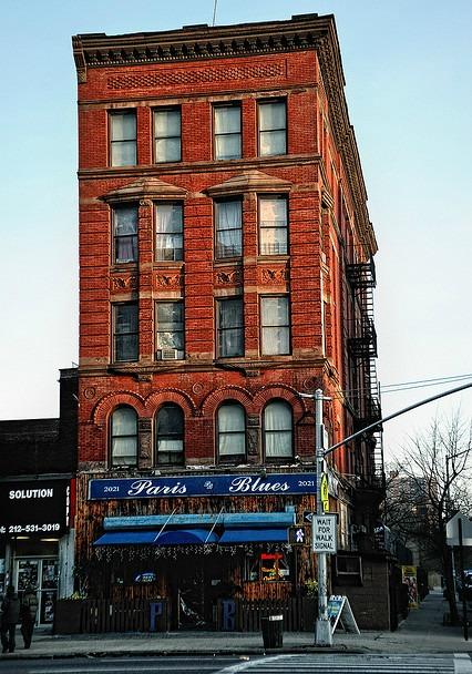 Outside Paris Blues in Harlem.