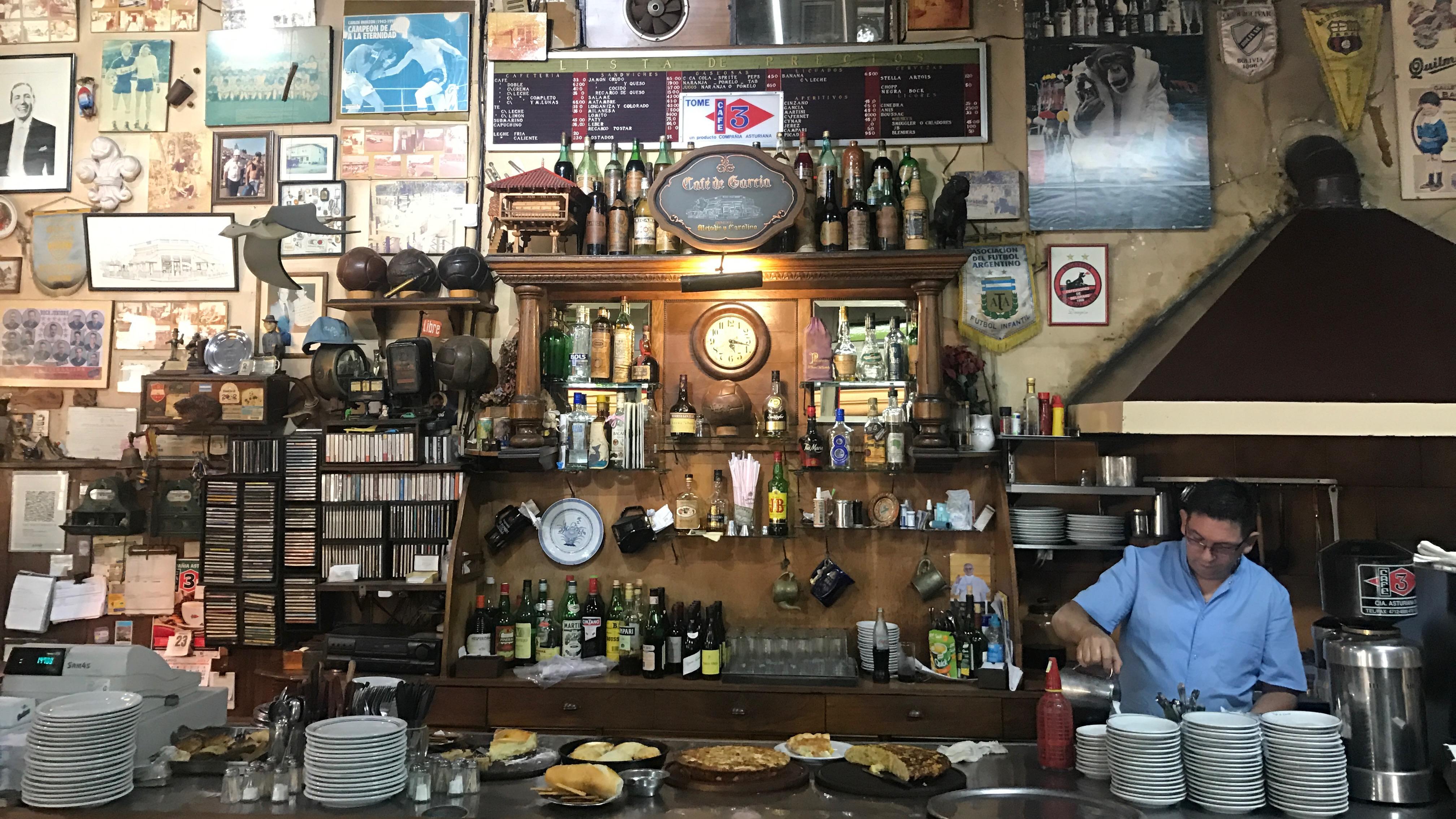 The bar at Café De Garcia.